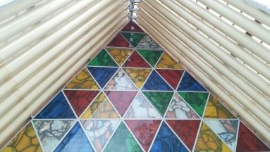 """""""Papírtemplom"""" - ideiglenes anglikán katedrális, kartonhengerekből, Christchurch, NZ"""